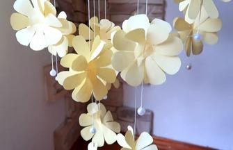 學習紙花風鈴的制作方法